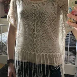 Lace crochet top XS